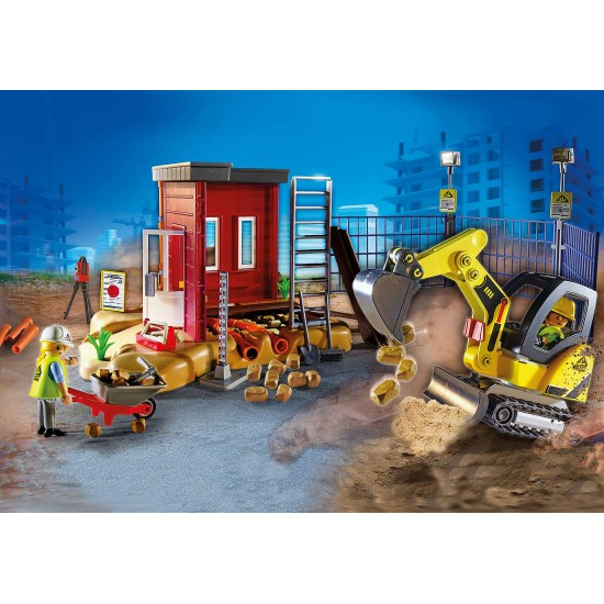 Playmobil Mini Excavator with Building Section (70443)