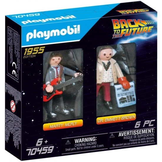Playmobil Back to the Future Marty Mcfly and Dr. Emmett Brown(70459)