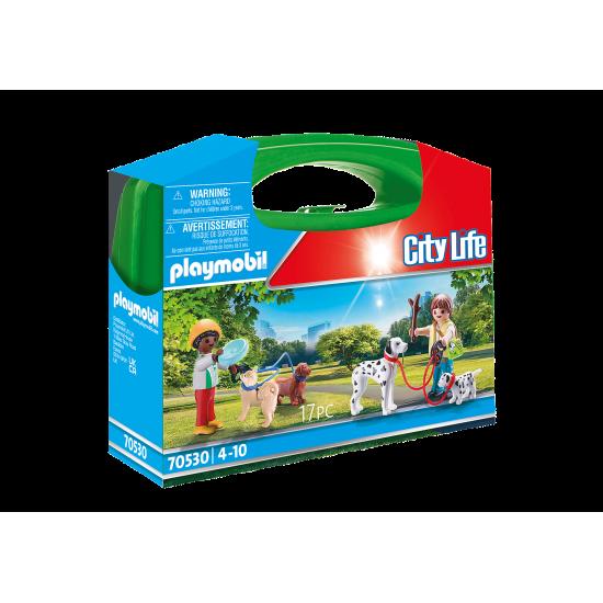 Playmobil City Life Βαλιτσάκι Βόλτα με σκυλάκια (70530)