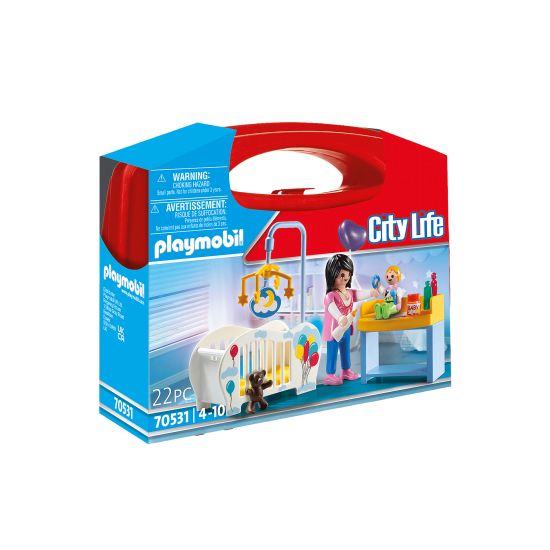 Playmobil City Life Βαλιτσάκι Βρεφικό δωμάτιο (70531)