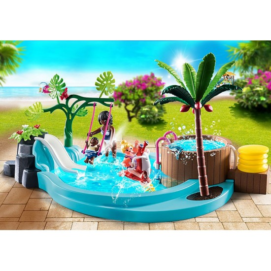 Playmobil Family Fun Children's Pool with Slide (70611)
