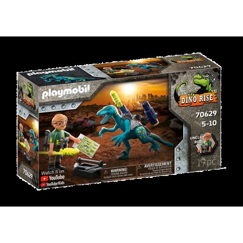 Playmobil Dino Rise Δεινόνυχος με τον θείο Rob (70629)