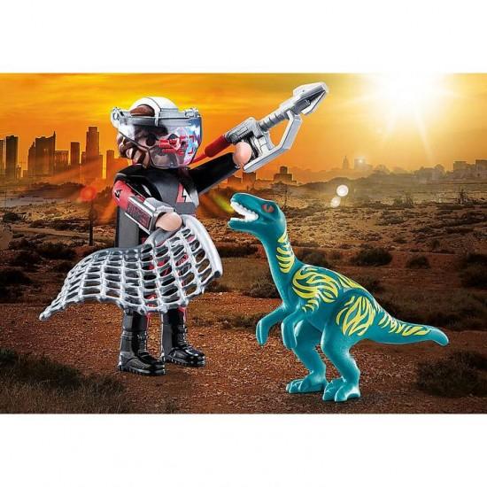 Playmobil Duo Pack Velociraptor with Dino Catcher (70693)