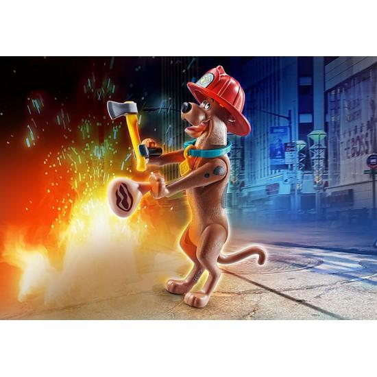 "Playmobil SCOOBY-DOO! Συλλεκτική φιγούρα Scooby ""Πυροσβέστης"""