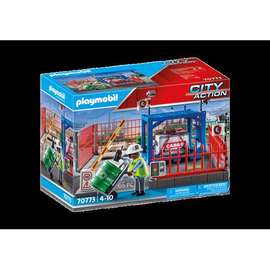 Playmobil City Action Σταθμός cargo (70773)