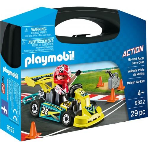 Playmobil ACTION Βαλιτσάκι Go-Kart (9322)