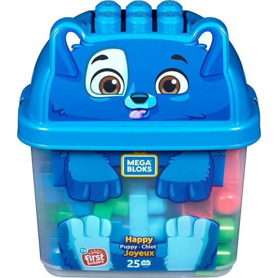 Fisher-Price Mega Bloks Happy Puppy Τουβλάκια 25τμχ (GFH49)
