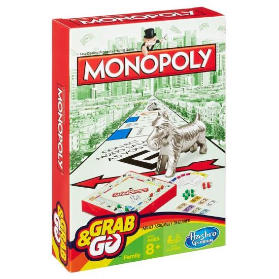 ΕΠΙΤΡΑΠΕΖΙΟ ΠΑΙΧΝΙΔΙ ΤΑΞΙΔΙΟΥ MONOPOLY GRAB & GO (B1002)