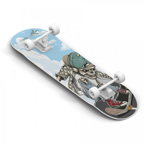 AUTHENTIC SPORTS Skateboard muuwmi ABEC 5, Skull (540)