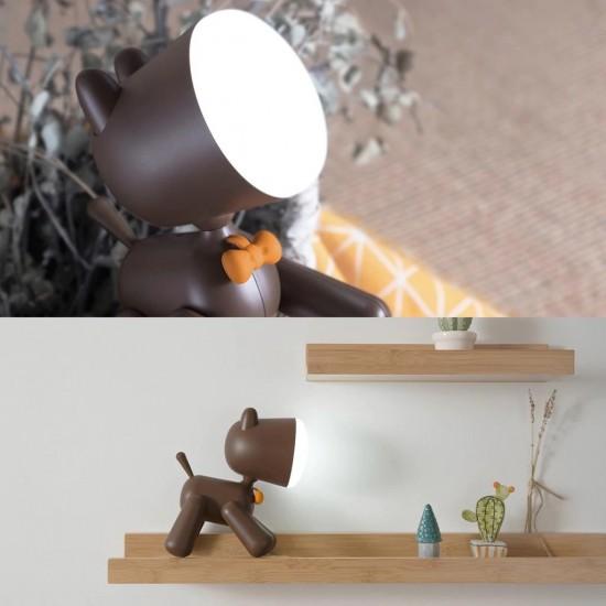 Allocacoc® PuppyLamp  Janpim  Επιτραπέζιο φωτάκι αστείο κουτάβι με διακόπτη στη ουρά του (καφέ) (DH0272BN/PUPYLP)