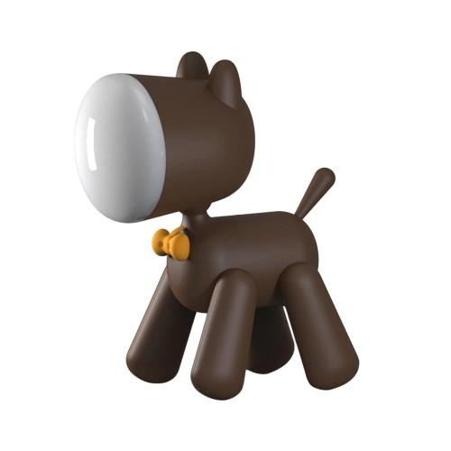 Allocacoc® PuppyLamp |Janpim| Επιτραπέζιο φωτάκι αστείο κουτάβι με διακόπτη στη ουρά του (καφέ) (DH0272BN/PUPYLP)