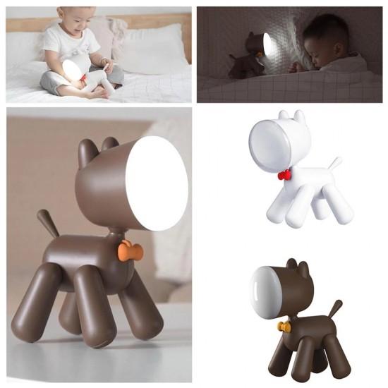 Allocacoc® PuppyLamp  Janpim  Επιτραπέζιο φωτάκι αστείο κουτάβι με διακόπτη στη ουρά του (λευκό) (DH0272WT/PUPYLP)