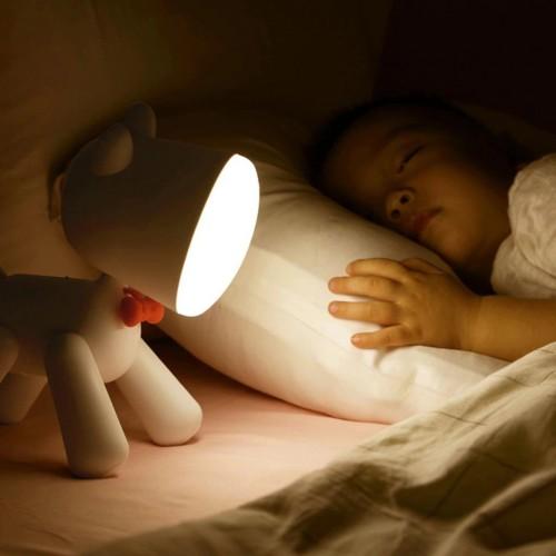 Allocacoc® PuppyLamp |Janpim| Επιτραπέζιο φωτάκι αστείο κουτάβι με διακόπτη στη ουρά του (λευκό) (DH0272WT/PUPYLP)