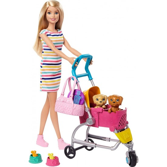Barbie Καροτσάκι Με Σκυλάκι (GHV92)