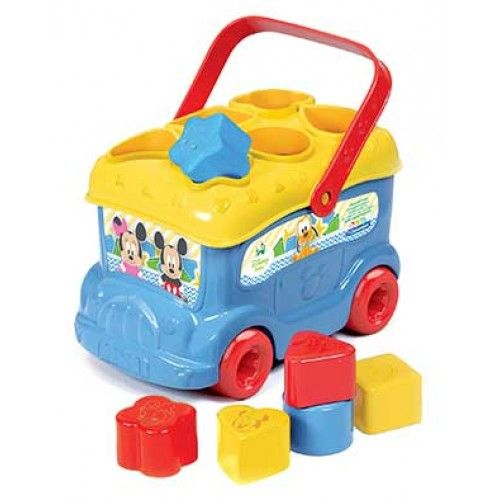Disney Baby Λεωφορειάκι Με Σχήματα Mickey (1000-14395)