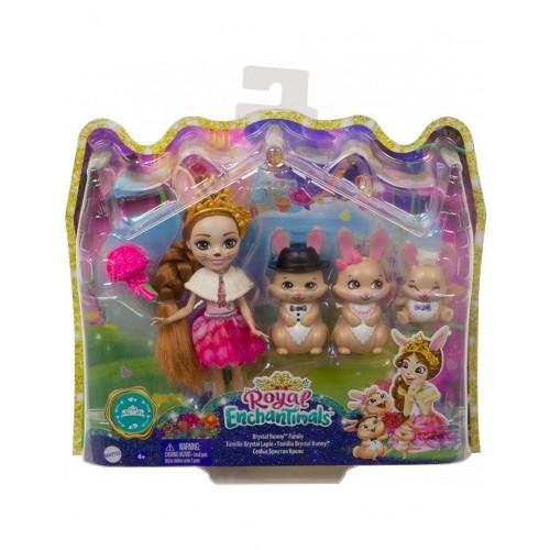 Mattel Royal Enchantimal  Brystal Bunny Family (GYJ08)
