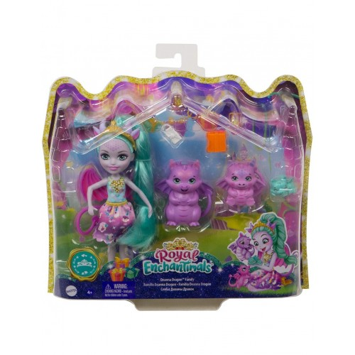 Mattel Royal Enchantimals Deanna Dragon Family (GYJ09)
