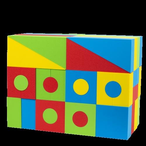 Gear Up Foam Building Blocks for Kids- 72 Piece