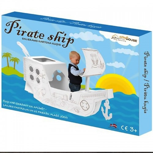 Allocacoc Annahouse Pirate ship, Πειρατικό καράβι από χαρτόνι (DH0553/ANHSPS)