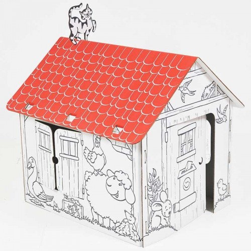 Allocacoc Annahouse Red Roof – Σπιτάκι από χαρτόνι με κόκκινη στέγη (DH0554/ANHSRR)