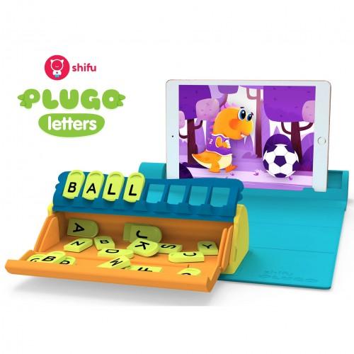 Plugo Letters by PlayShifu Σύστημα παιδικού παιχνιδιού Επαυξημένης Πραγματικότητας γνώσεων με τουβλάκια (Shifu025)