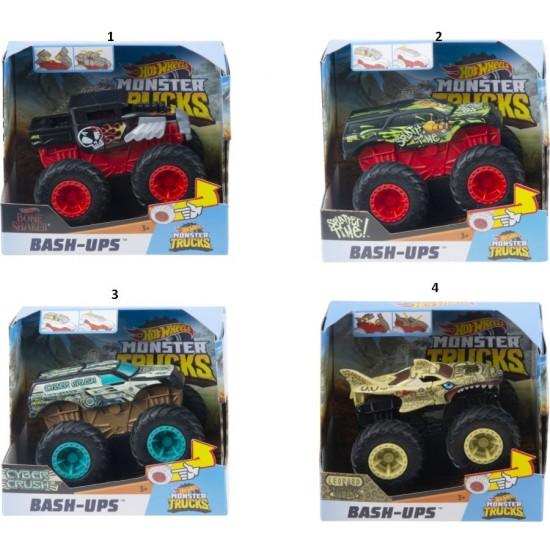Hot Wheels Monster Trucks Οχήματα Σύγκρουσης  (4 Σχέδια) (GCF94)