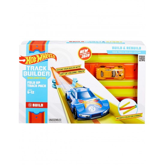 Mattel Hot Wheels Track Builder Fold Up Track Pack Βασικά Εξαρτήματα Πίστας (GLC87/GLC91)