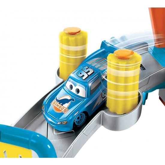 Disney Pixar Cars Color Change Dinoco Car Wash Car Vehicle Playset - (GTK91)