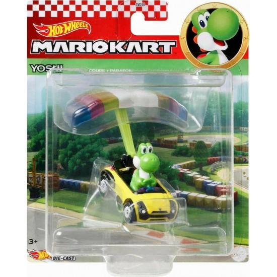 Mattel Hot Wheels – Mario Kart Αυτοκινητάκι, Yoshi Με Ανεμόπτερο (GVD32/GVD30)