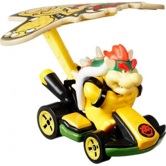 Mattel Hot Wheels – Mario Kart Αυτοκινητάκι, Bowser Με Ανεμόπτερο (GVD33/GVD30)