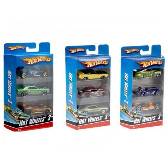Hot Wheels Αυτοκινητάκια Σετ των 3 (K5904)