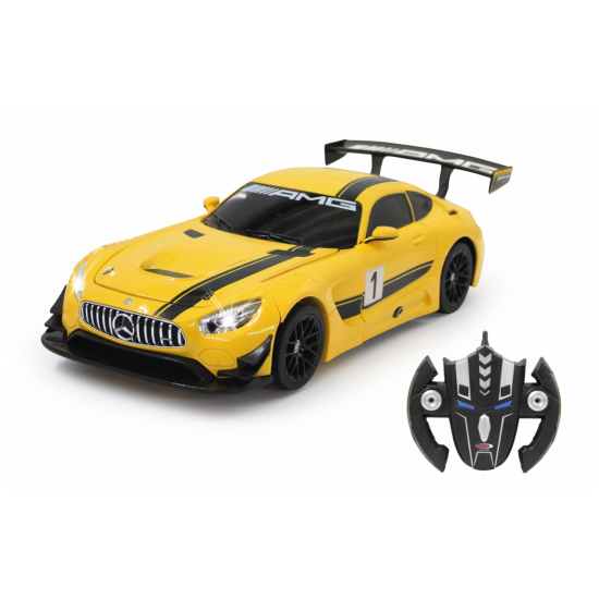 Mercedes AMG GT3 1:14 transformable 2,4GHz jaune(410029)