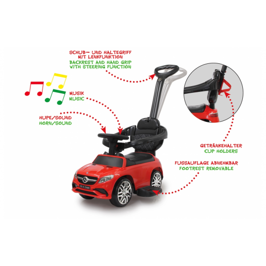 Push Car Mercedes-AMG GLE 63 red 3in1(460451)