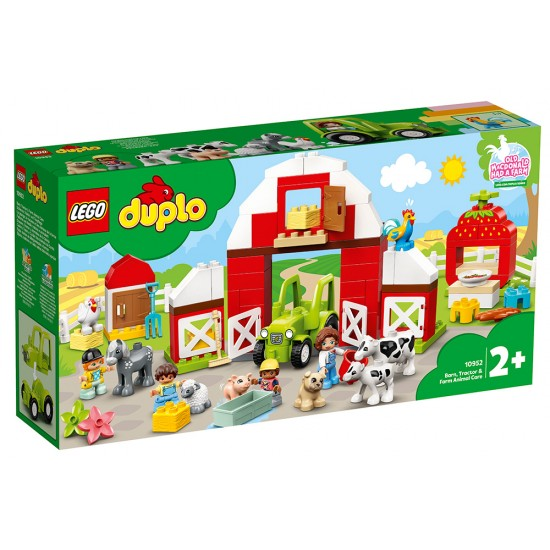Lego Duplo Barn, Tractor And Farm Animal Care 10952