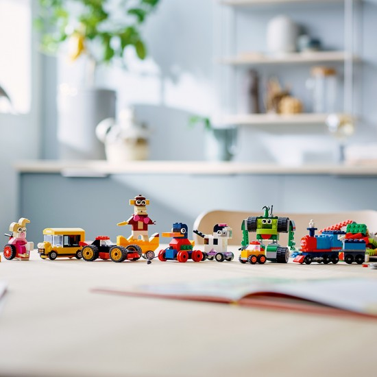 Lego Classic Τουβλάκια και Τροχοί (11014)