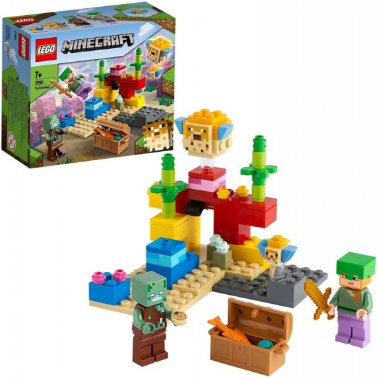 Lego Minecraft The Coral Reef Ο Κοραλλιογενής Ύφαλος (21164)