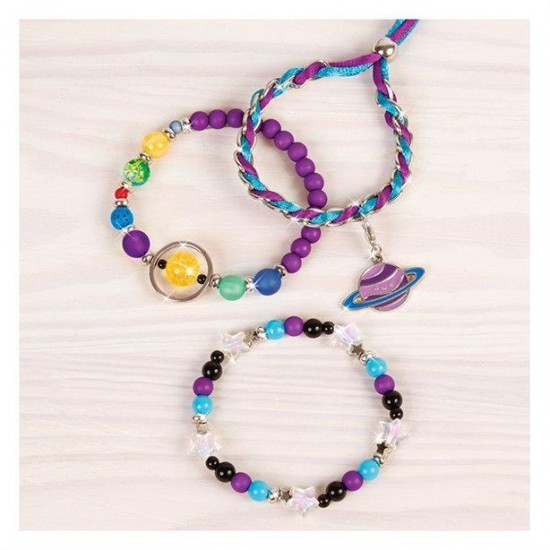 Make it Real - Cosmic Charm Bracelets Galaxy Jewelry (1208)