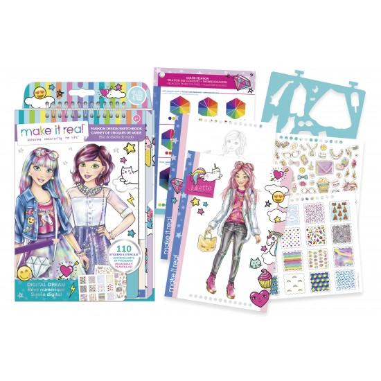 Make it Real - Fashion Design Sketchbook: Digital Dream (3203)