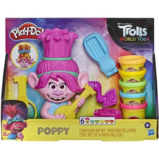 Hasbro Play-Doh Trolls World Tour Rainbow Hair Poppy Styling (E7022)