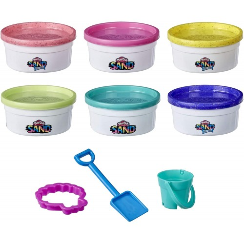 Hasbro Play-Doh  Sand and Shimmer Stretch Compounds 6er-Pack (F0103)
