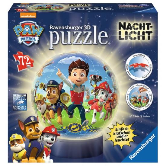 Ravensburger  Puzzle Mπάλα νυχτερινό φως Paw Patrol (118427)