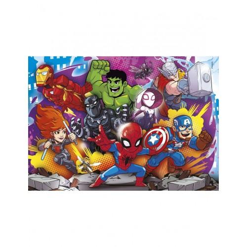 As Company Puzzle 2x20 + 2x60 Super Color Marvel Superhero (1200-24769)