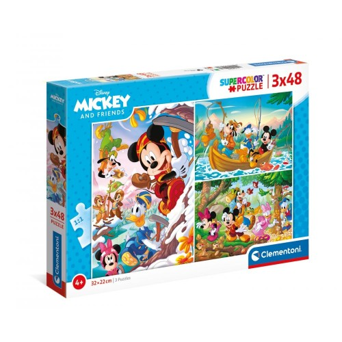 As Company Puzzle 3X48 Mickey And Friends(1200-25266)
