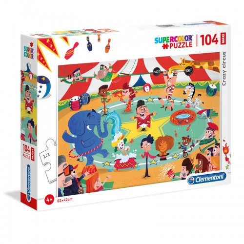 As Company Puzzle 104 Maxi Crazy Circus (1210-23733)
