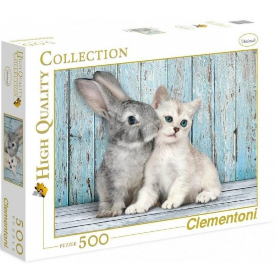 As Company Puzzle 500 H.Q. Cat - Bunny (1220-35004)