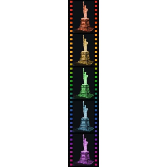 Ravensburger 3D Puzzle Statue of Liberty by night building (125968)