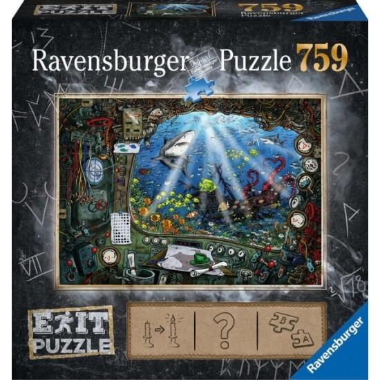 Ravensburger  Puzzle EXIT Im U-Boot (19953)