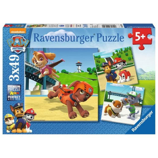 Ravensburger  Puzzle Paw Patrol Team on 4 paws 3x49 (92390)