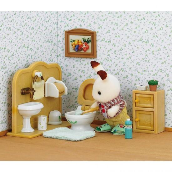 Sylvanian Families Σετ Chocolate Rabbit Αγοράκι & Σετ Μπάνιου (5015)