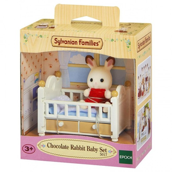 Sylvanian Families Chocolate Rabbit Μωρό & Κούνια (5017)